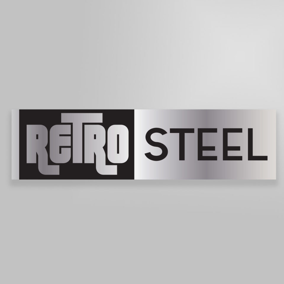 Retro Steel Logo and Business Cards