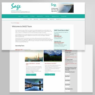 SAGE Tours Web Site