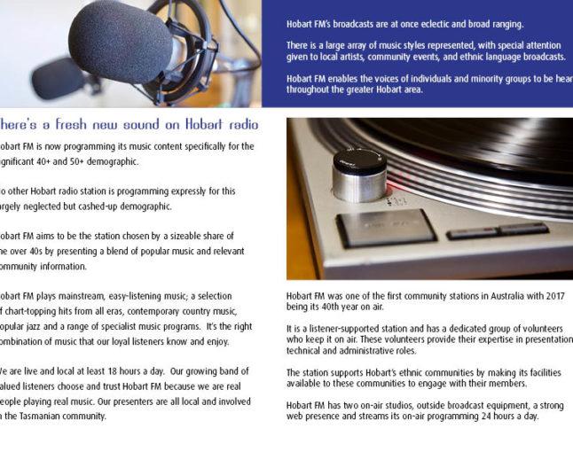 Hobart FM – 40 years of community radio.